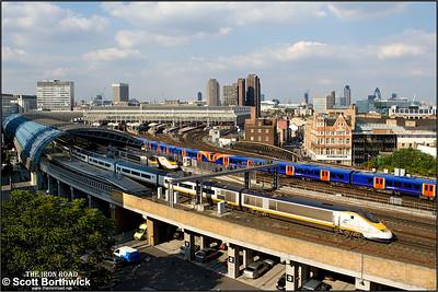 3021/3022 begin their journey forming 9044 1709 London Waterloo International-Paris Gare du Nord on 11/08/2007.