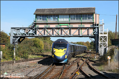 395023 forms 1J33 1153 Margate-London St Pancras HS1arriving at Canterbury West on 09/10/2018.
