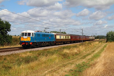 86259 on the 1Z05 0718 Edinburghto London Kings Cross Prudential 'RideLondon' charter at Cromwell near Newark on the 9th August 2014