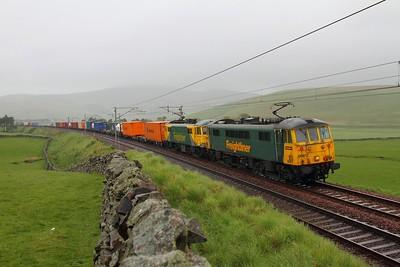 86612+86637 4M11 Coatbridge to Crewe at Crawford 27th May 2011