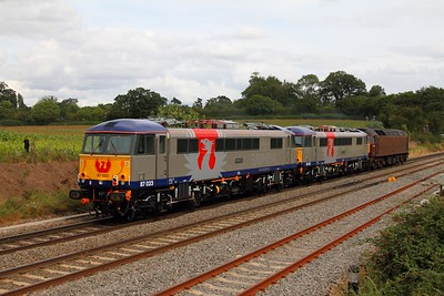 87023+87017+47500 at Whitacre Heath on the 0Z87 Long Marston to Willesden on the 28th August 2012