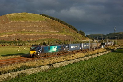 88002 working 4S44 Daventry to Mossend at Elvanfoot on 25 September 2020  Class88, WCMLScotland, DRS