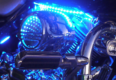 Glowing motorcycles