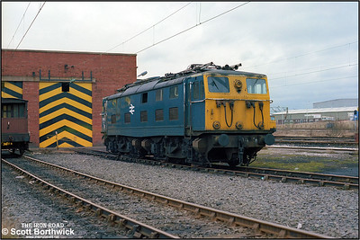 76031 stands outside the shed at Reddish TMD (RS) on 05/03/1983. Withdrawn from traffic and stored at Guide Bridge some eighteen months earlier, 76031 had arrived at Reddish (RS) five days before this photograph was taken as the class was rounded up in order to be taken across the Pennines to be scrapped. It would be towed to Tinsley on 18/03/1983 and two days later on to Cooper's Metals at Brightside for scrapping.
