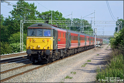86260 'Driver Wallace Oakes GC' heads north at Cathiron whilst in charge of a Virgin West Coast service from London Euston on 13/06/2003.