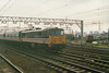 Class 86/2 Electric Locomotive number 86 232 passes Stratford with the 1630 Liverpool Street to Norwich.<br /> 17th May 1989