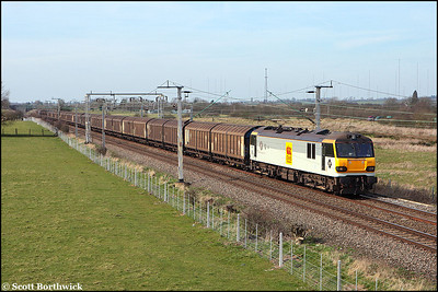92017 'Shakespeare' passes Barby Nortoft whilst working 6L42 1041 MO Warrington Arpley Yard-Ripple Lane on 16/03/2009.