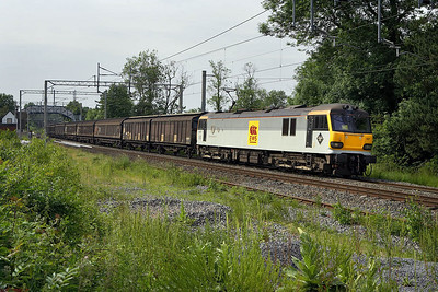 92007 passes Berkswell on 16/06/2006 with 6A42 1515 Bescot Yard-Wembley EFOC.
