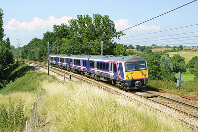 360107 passes Brantham on 06/07/2004 whilst working 1Y47 1530 Ipswich-London Liverpool Street.