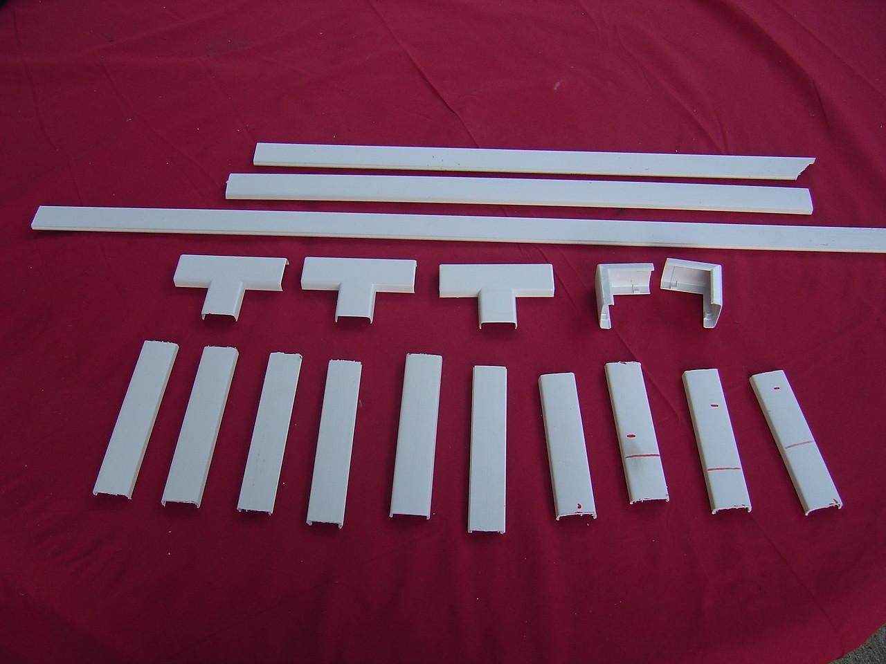 The parts minus one L shape piece