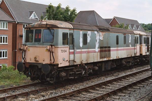 73104 at Alton on the Mid-Hants Railway. 23.05.04