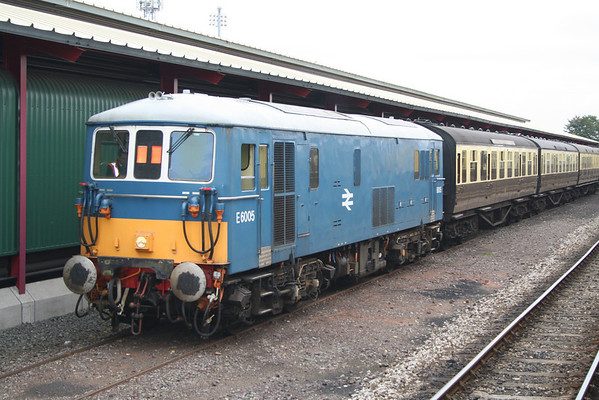 73005 in the carriage sidings at Kidderminster. 14.10.05
