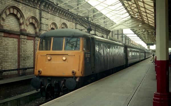81012 at Crewe before working 1S40 1429 Crewe - Edinburgh on 09.03.90