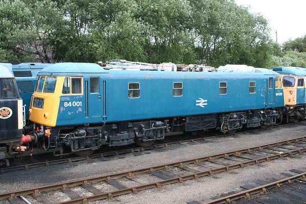 84001 sits in the yard at Barrow Hill. 03.08.08