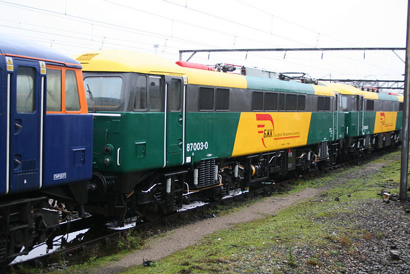 87003 in Crewe Basford Hall Yard. 13.12.08