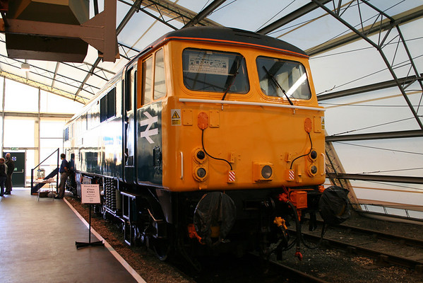 87001 inside the tent at the NRM 'cab it' weekend. 13.11.05
