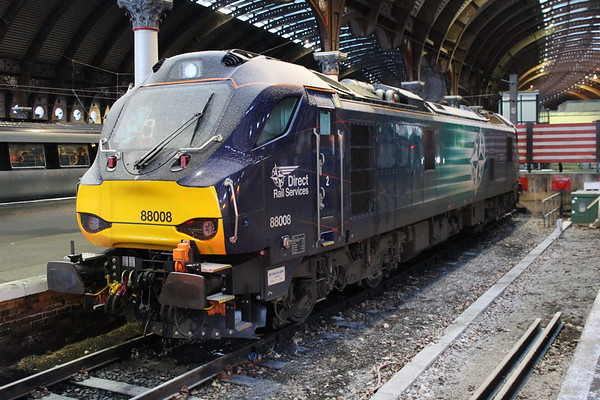 88008 at York with a light covering of snow. 28.02.18