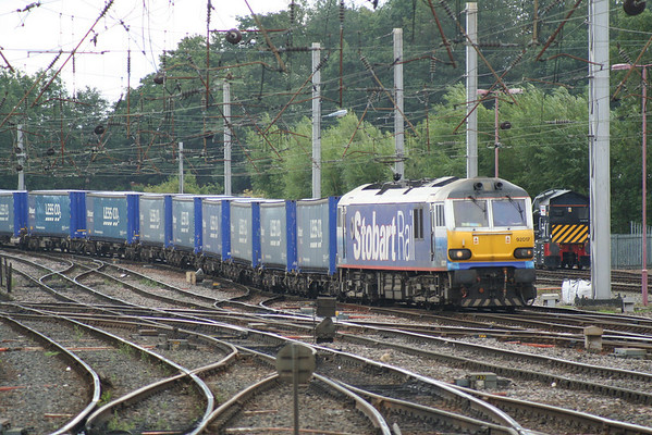 92017 approaching Carlisle on 4S43 0721 Rugby - Mossend Yard. 31.07.10