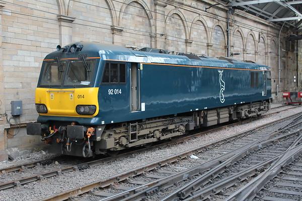 92014 at Edinburgh Waverley. 30.04.17