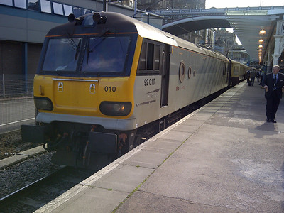 92010 at Edinburgh Waverley on 1Z93 GBRf Staff Special. 06.07.13