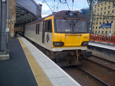 92010 at Glasgow Central on 1Z93 GBRf Staff Special. 06.07.13