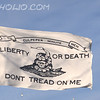 "Culpeper Minute Men Flag<br /> <br /> The Culpeper Minutemen was a militia group formed in 1775 in the district around Culpeper, Virginia. Like minutemen in other British colonies, the men drilled in military tactics and trained to respond to emergencies ""at a minute's notice."""