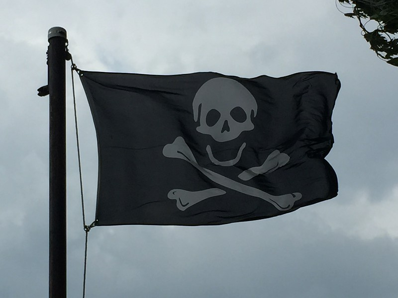 August 6, 2016 -- Skull and Crossbones Flag