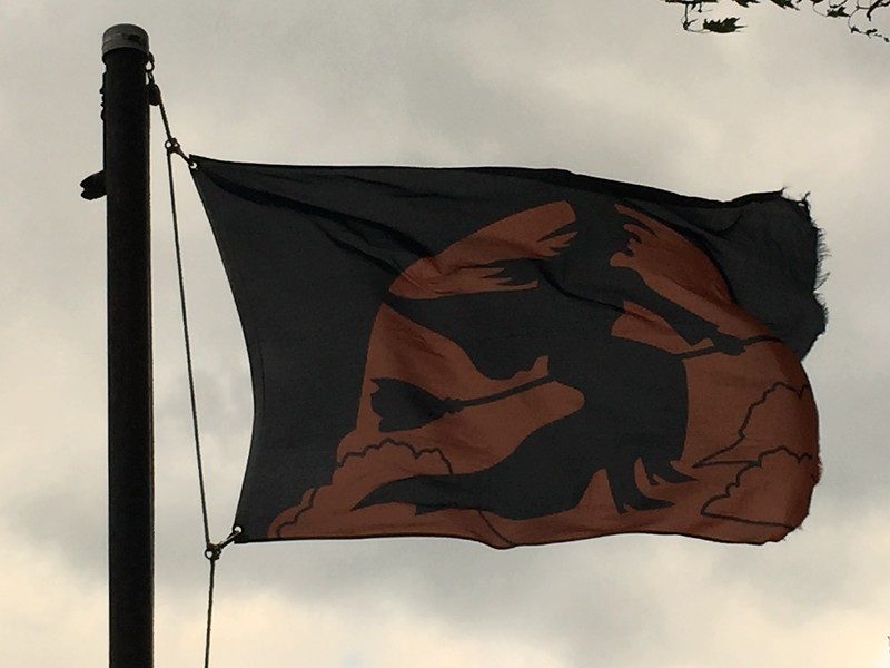 October 31, 2016 - Halloween Witch Flag