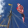 September 2, 2016 -- Old Glory Flying on the Pride of Baltimore II