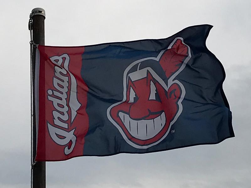 April 14, 2018 - Cleveland Indians Flag