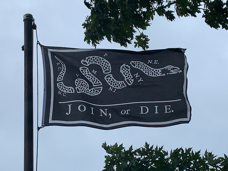 September 3, 1783 - Join or Die Flag