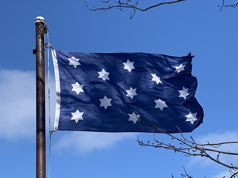 February 22, 1732 - George Washington's Position Flag