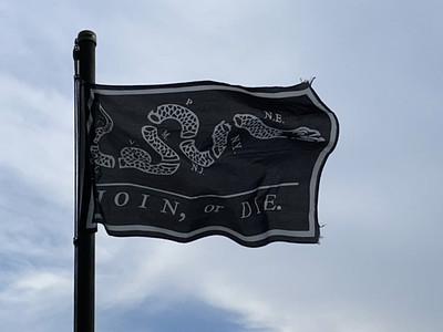 May 22, 2021 — Join or Die Flag