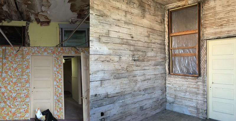 Phase I:  The Wall Paper Room -- Before & After