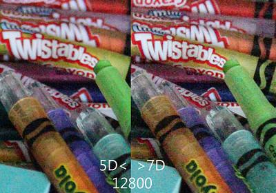 5DII vs 7D High ISO