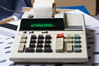 Sharp EL-1607. Another sturdy printing calculator still going strong.