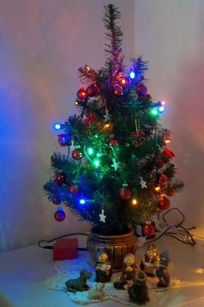 Miniature Christmas Tree with 18 LED light array I threw together.