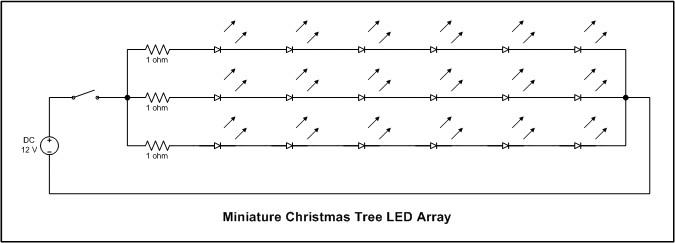 Mini Christmas Tree LED array circuit diagram