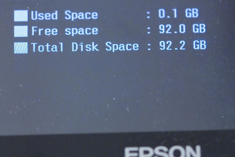 """After successful reassembly I now have lots of space and perhaps what Epson would call """"P-5000"""" :-)"""