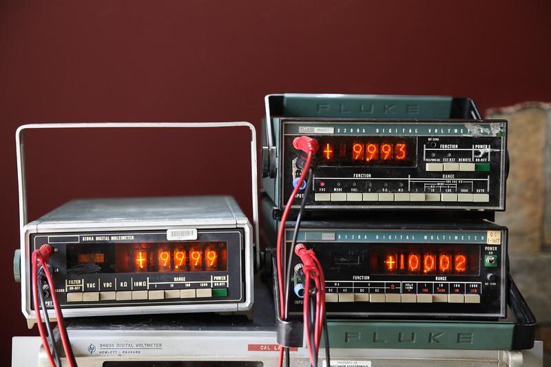 Fluke 8100A, 8120A & 8200A nixie portable meters