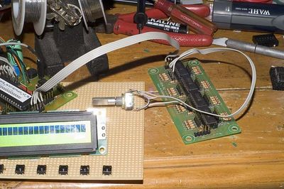 DIN board testing with one encoder