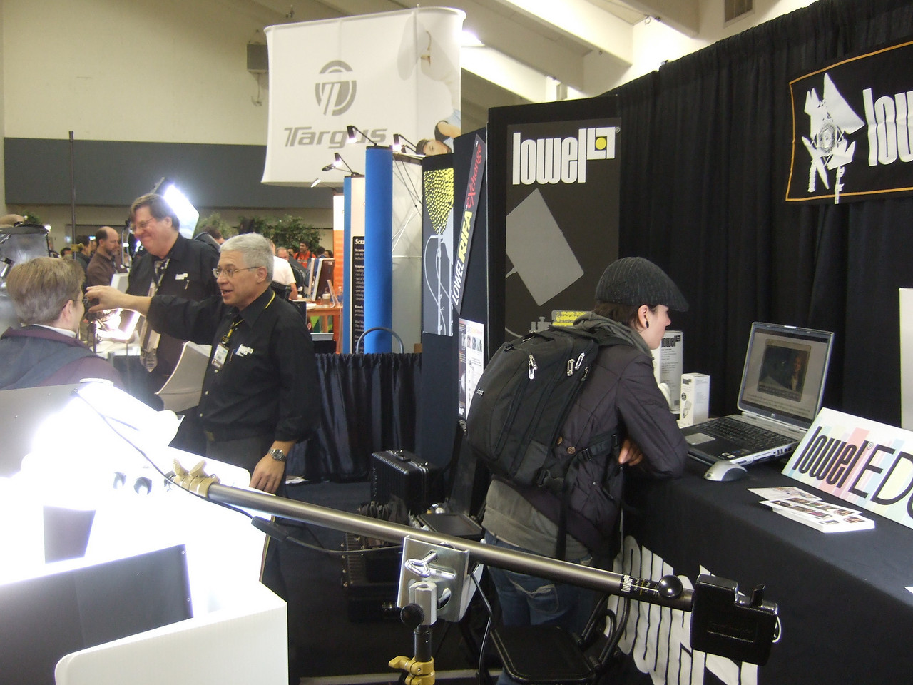 Lots of booths showed professional lighting for still and video.