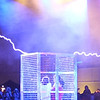 Kids in a Faraday cage being protected from the evil Tesla Coils.