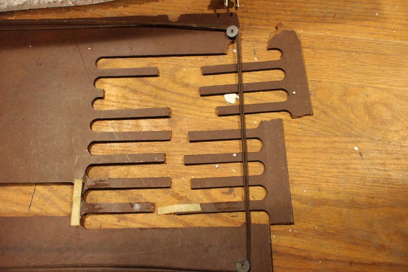 Broken rear panel