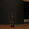 Ray Kimber was talking about not shipping these Sound Lab speakers around for the various shows around the country as part of his demo.  For those who don't know the Sound Lab is in back, which dominates this picture, not the high end Sony one in front