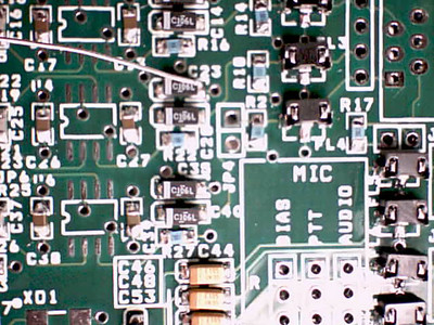 0.015 solder under magnification