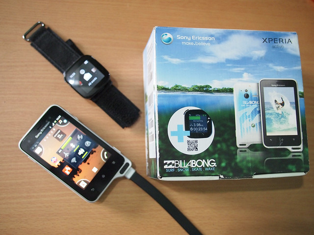 The Billabong Edition of the Xperia Active with the LiveView Watch