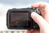 In your hands: The buttons can get a little fiddly, but the layout is practical and intuitive. The LCD display becomes rather washed out in bright sunlight, typical of its kind, making you wish for a viewfinder.