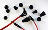 Still, despite a variety of shapes and sizes, the Beats' standard earpieces cannot compete with headphones whose earbuds are custom-molded for each individual buyer.