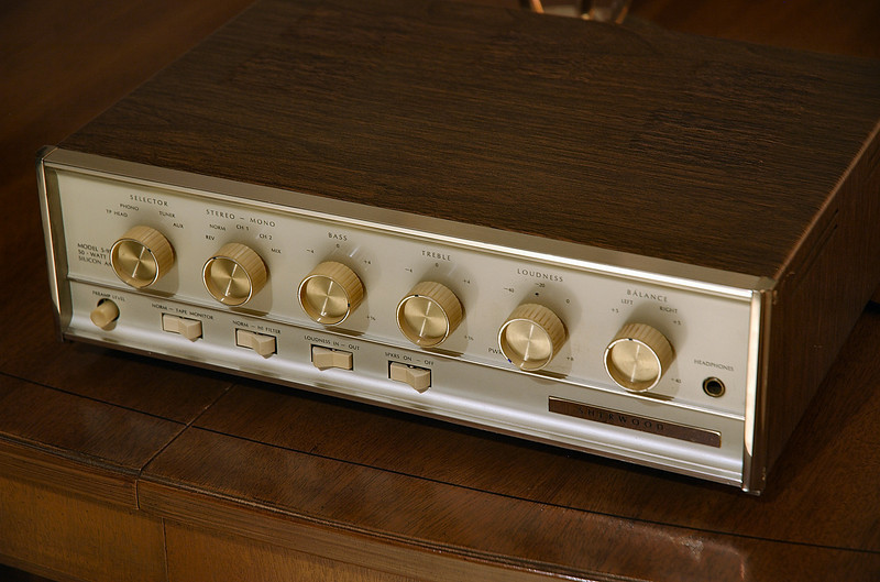 Sherwood S-9500 Solid State Amplifier, 2x36W. Made in USA, ca. 1967.